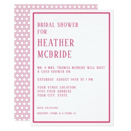 Bridal shower simple modern hexagon geometric card wedding bridal shower simple modern hexagon geometric card wedding invitations cards custom invitation card design marriage stopboris Choice Image