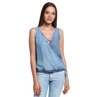a656396497 Blusa-Jeans-Transpassada-Feminina-Frente-- Comprar Roupas Online, Blusa