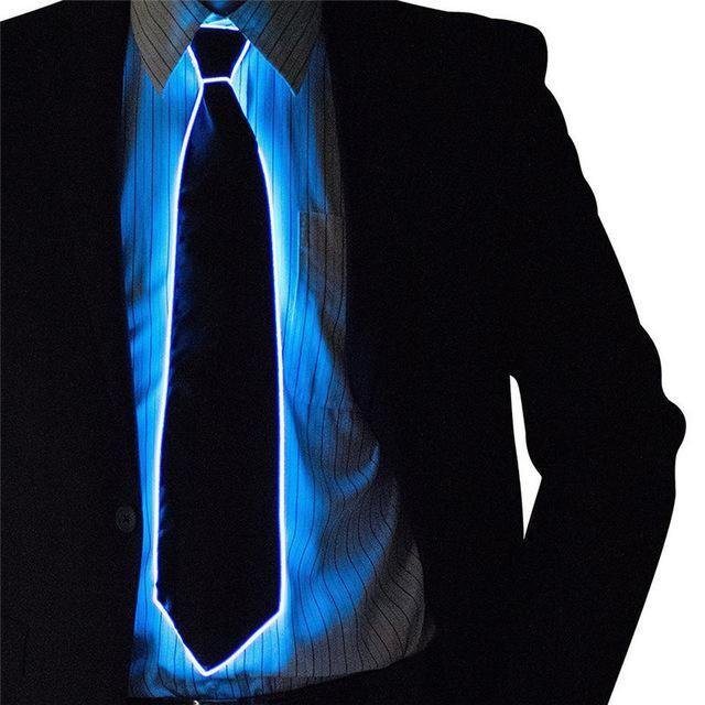 LED Light Up Flashing Striped Luminous Necktie For Men #fitnessxpresslocations