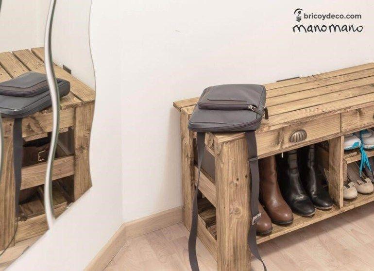Comment Fabriquer Un Meuble A Chaussures En Palettes Meuble Chaussure Comment Fabriquer Des Meubles Fabrication Meuble