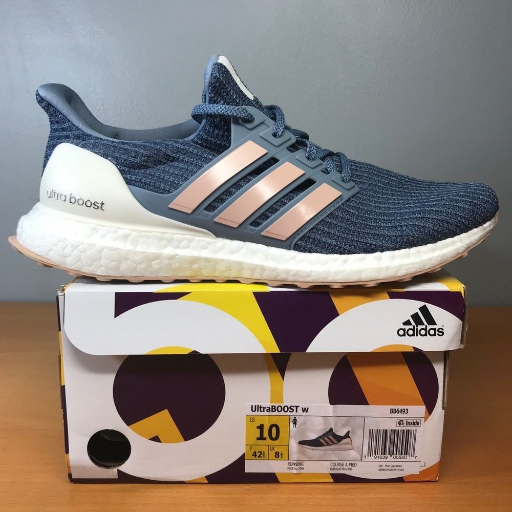 d68c8887cbf Wmns Adidas Ultra Boost 4.0 Womens Sz 10 Raw Grey Blue White BB6493  Ultraboost