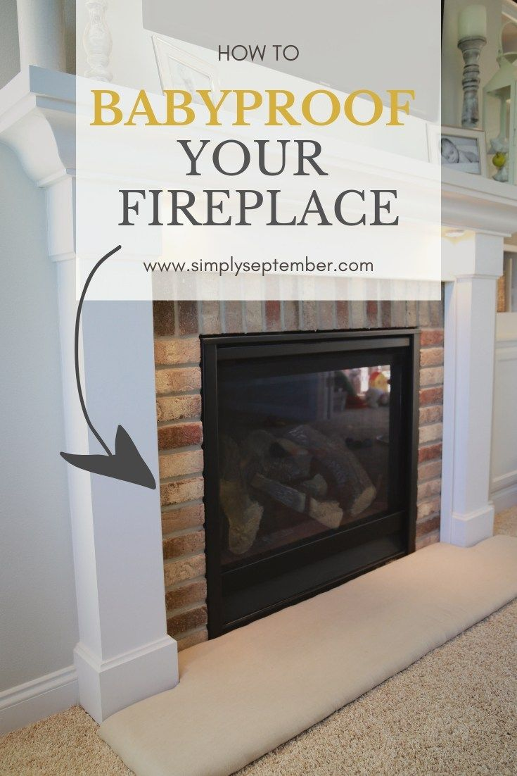 How to Baby Proof a Fireplace DIY Hearth Cushion (With
