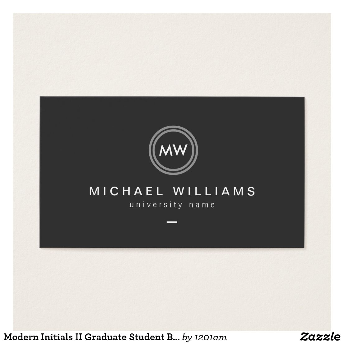 Modern Initials II Graduate Student Business Card | Business Cards ...