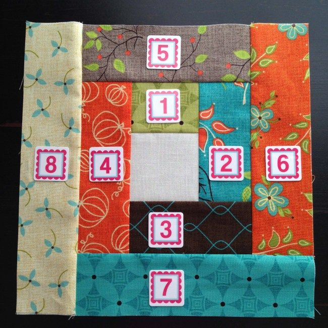 Piece Order- Layer Cake Log Cabin Quilt Pattern- My Little Sewing ... : quilting and sewing blogs - Adamdwight.com