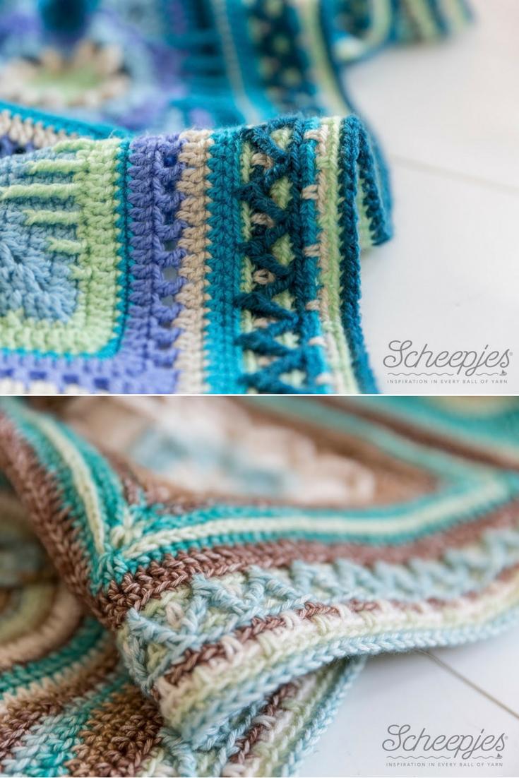 Free Crochet Pattern] Spectacular Zig-Zag Blanket Border | cobijas 2 ...