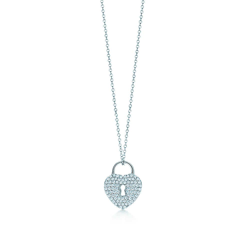 152b09a3a Tiffany Locks heart lock pendant in platinum with diamonds. | Tiffany & Co.