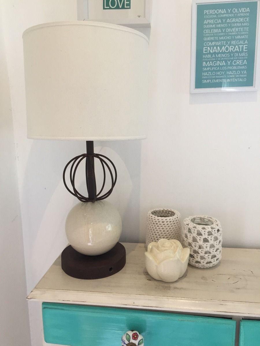 Velador Hierro Y Ceramica - $ 850,00 en MercadoLibre   Lamps ...