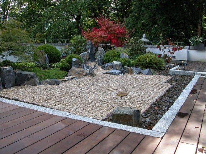 Karesansui Freiburg Japanischer Garten Moderne Landschaftsgestaltung Garten