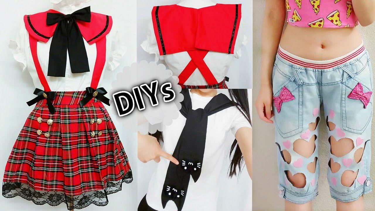 0f8f607f69 4 DIY Costumes Clothes  DIY Anime School Uniform