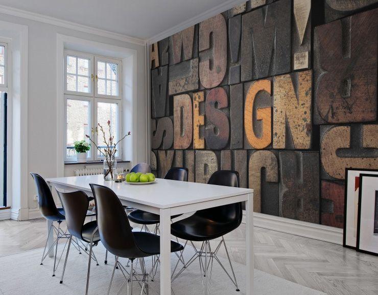 Bien Idee Deco Papier Peint Salle A Manger #14: Papier Peint Wood Cut Rebel Walls