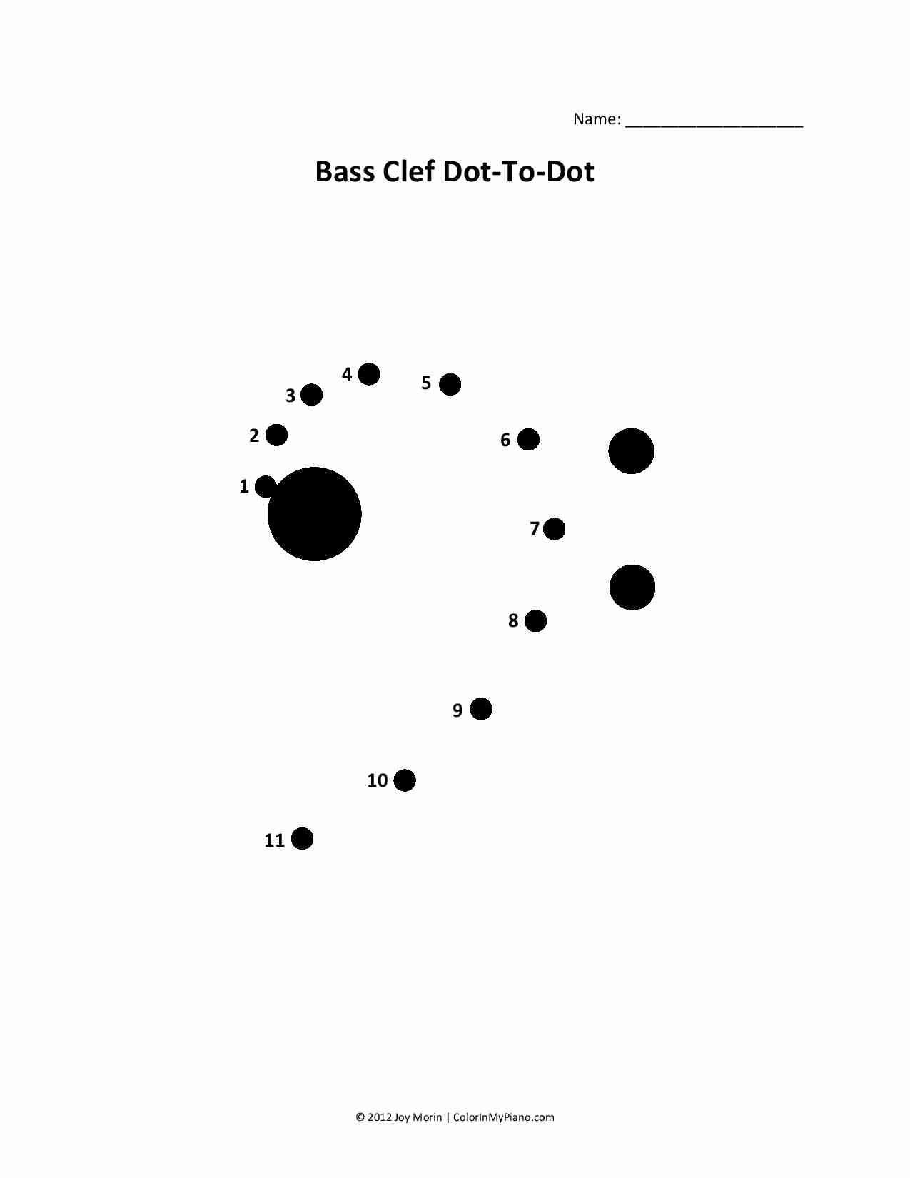Treble Clef Dot To Dot