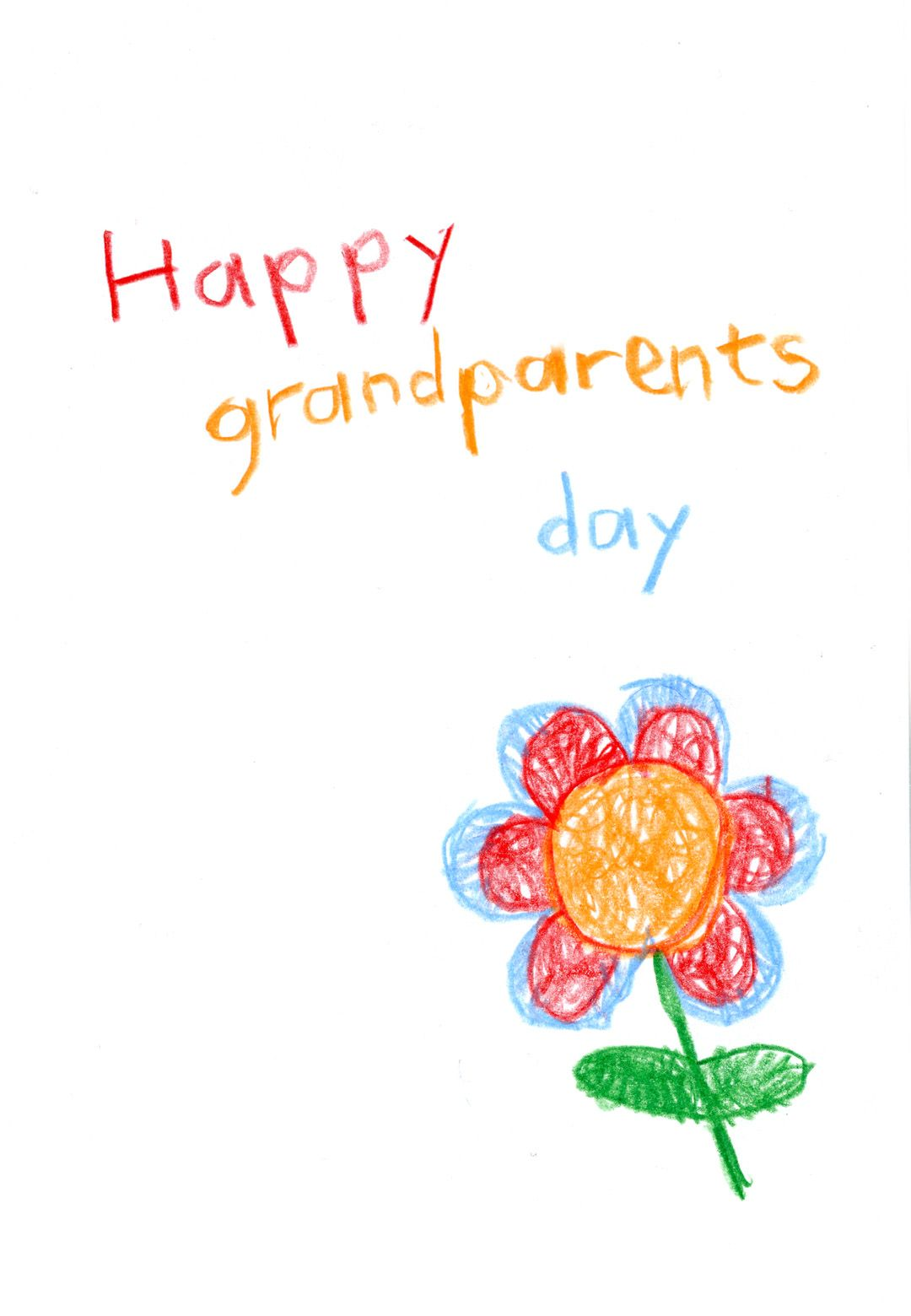 Free printable flower child drawing greeting card grandparents day free printable flower child drawing greeting card printable flower printable cards free printables m4hsunfo