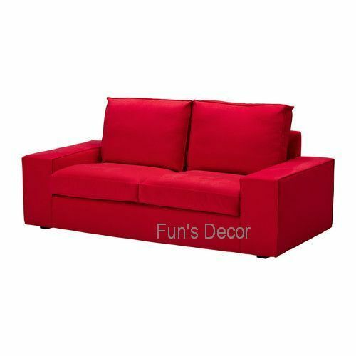 NEW IKEA KIVIK Loveseat Couch Cover Slipcover  Ingebo Bright Red - Ikea Sofa - Ideas of Ikea Sofa #sofa #ikea #ikeasofa -   NEW IKEA KIVIK Loveseat Couch Cover Slipcover  Ingebo Bright Red  Price : 169.00