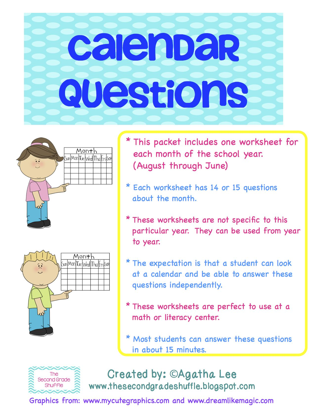 Calendar Year Question : Calendar questions worksheets students and school