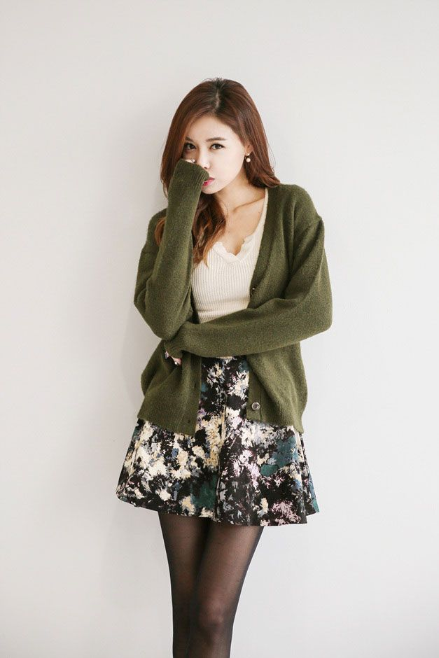 V-Neck Knit Button Cardigan | Korean Fashion | STYLE ...