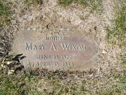 Mary Alma Barnum Wixom Burial Highland Memory Gardens Cemetery Des Moines Iowa