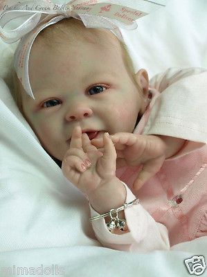 SOLD OUT~ART COLLECTIBLE~REBORN BABY~DOLL KIT~BABY BON BY BONNIE BROWN~MIMADOLLS
