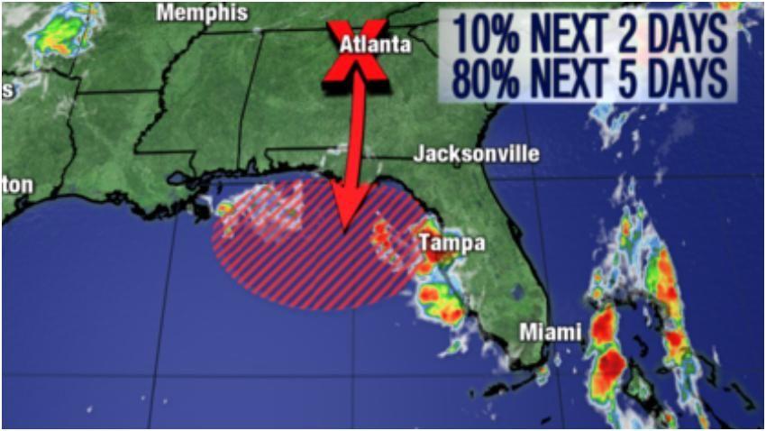 Depresión Tropical Florida  Foto: Fox 13 News Es probable que un