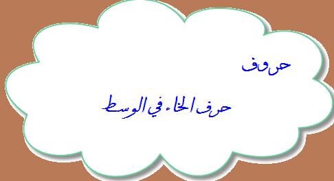 حرف الخاء في الوسط حروف الهجاء العربية