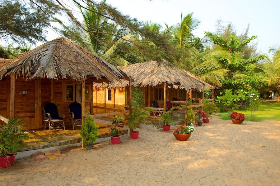 Rama Resort In Agonda Beach Is A Goa Designed Wooden Huts Set Gardens Next Very Child Friendly South Hotel
