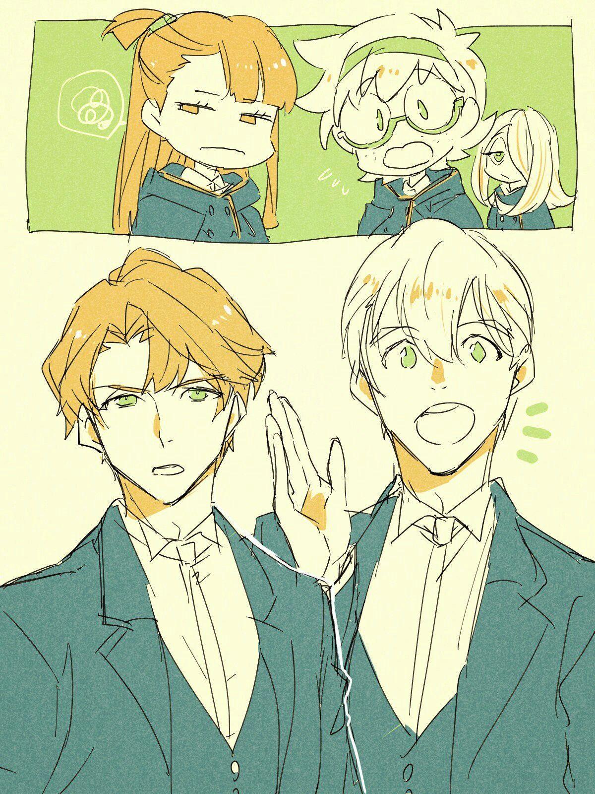 Dibujos Anime: Akko And Andrew Are So Cute