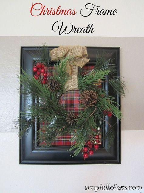 How to make a Christmas frame wreath | Diy christmas frames, Frame ...