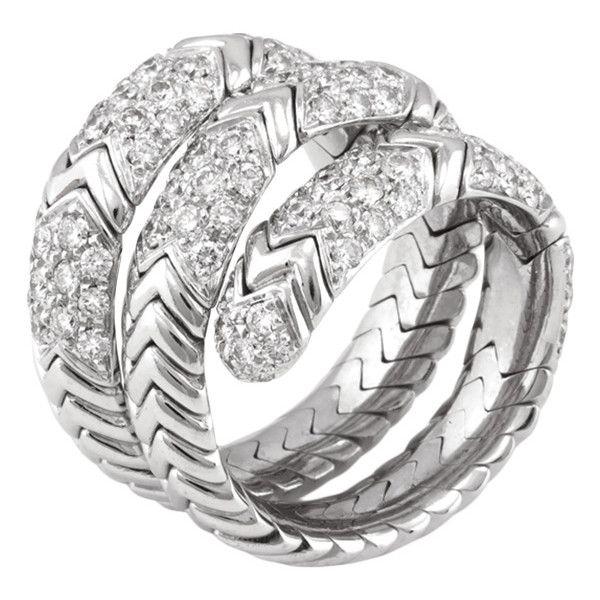 bulgari bulgari spiga diamond wrap ring liked on polyvore featuring jewelry