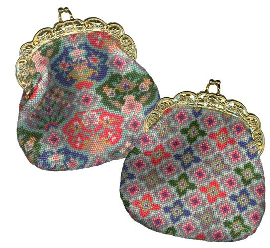 "Jewel Beaded Needlepoint Purse download pattern 3.25"" x 4"" (no materials)"