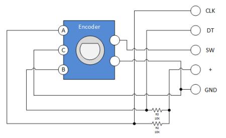 keyes ky 040 rotary encoder module schematic j a r v e s arduino Rotary Encoder Joystick Wiring-Diagram
