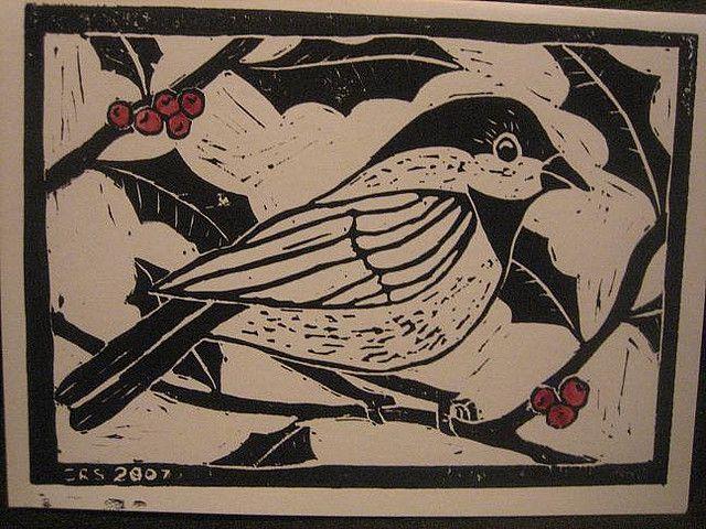 chickadee christmas cards 001 by krakencrafts, via Flickr
