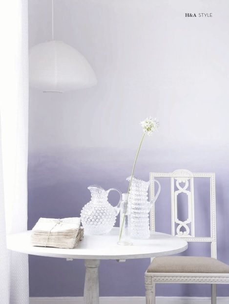 Purple Grey Ombre Wall Effect