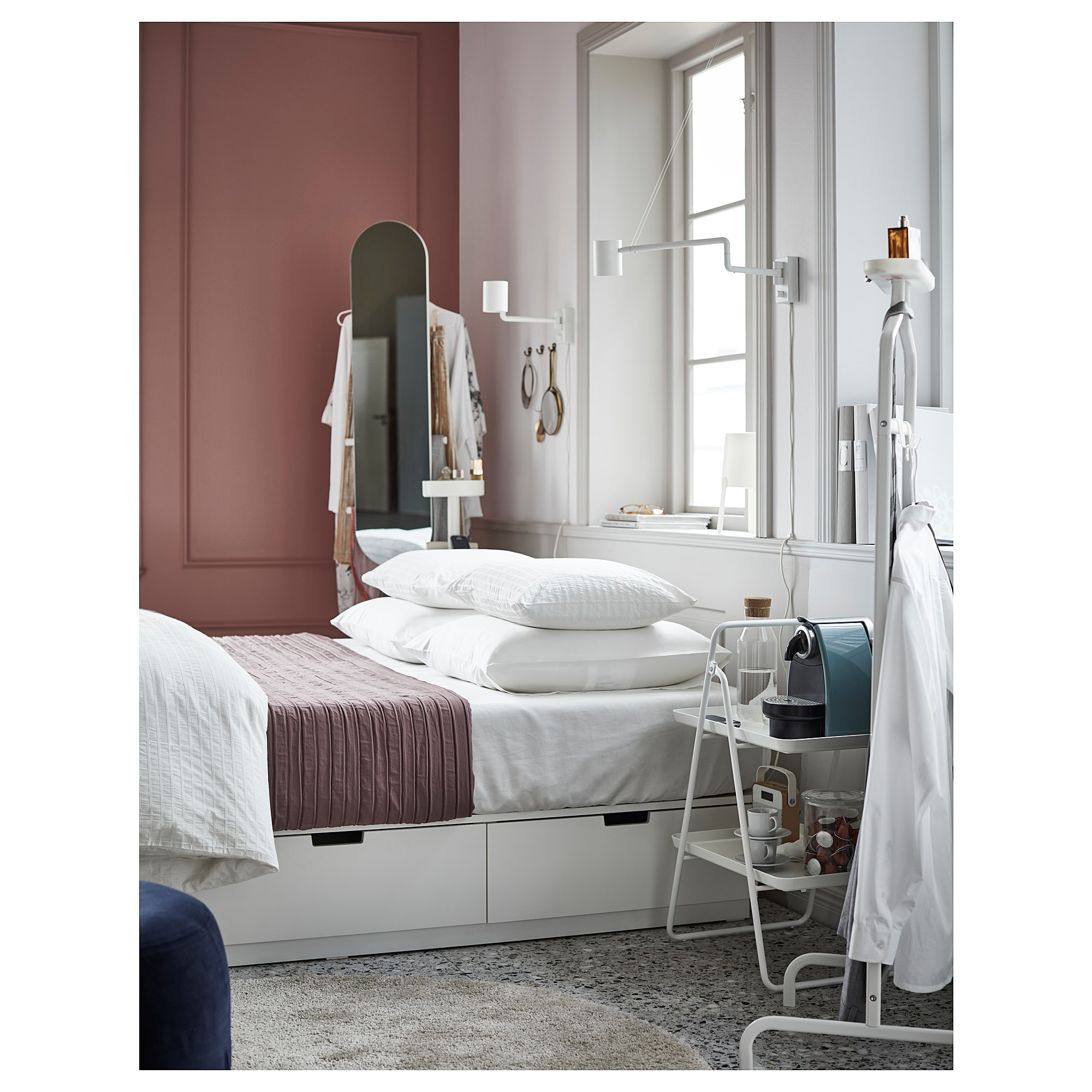 Ikea Möbel Nordli Ikea Nordli Bed Frame With Storage White In 2019 Home Bed