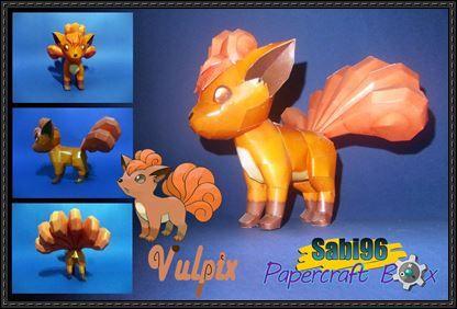 Pokemon - Vulpix Ver.2 Free Papercraft Download