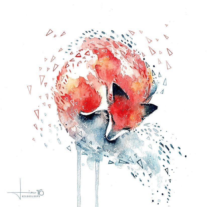 @kelogsloops Freaking out a bit to find that my little fox painting, was chosen as a daily deviation! Thank you @DeviantArt !!