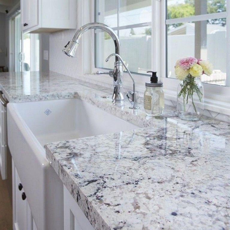 45 Top Granite Slabs Kitchen Countertops Ideas For Gorgeous Kitchen In Quartz Kitchen Countertops Quartz Kitchen Countertops White Granite Countertops Kitchen