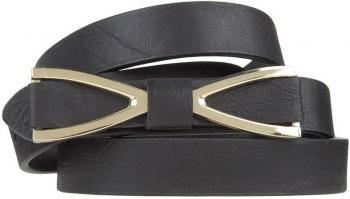 $16 Cinturón mujer negro cierre lazo metálico