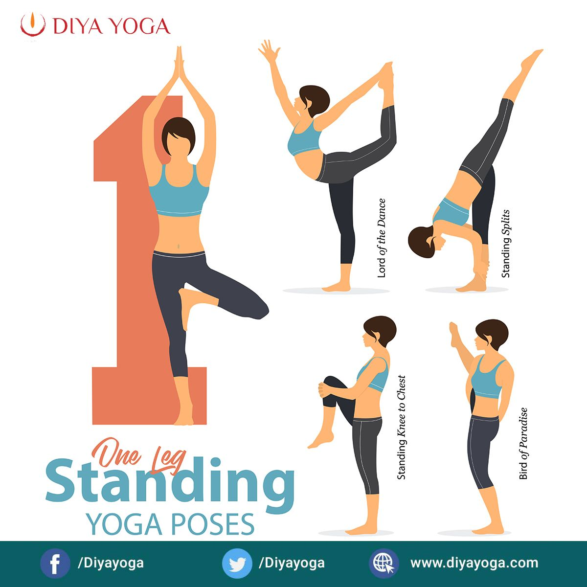 One Leg Standing Yoga Poses To Improve Your Balance Standing Yoga Poses Easy Yoga Workouts Standing Yoga