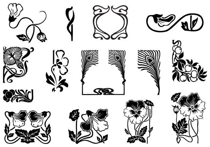 Art Nouveau Ornament Brush Pack - Free Photoshop Brushes at