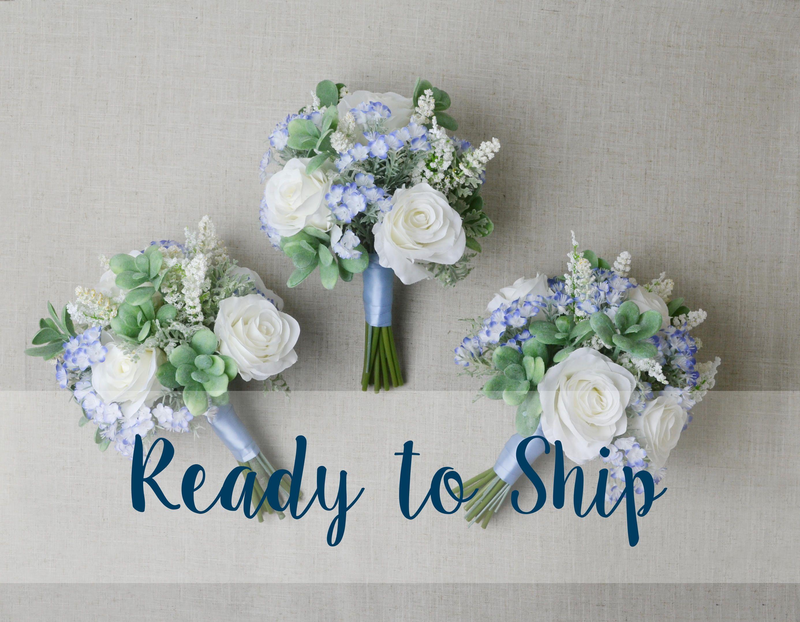 Ready to ship set of 3 bridesmaid bouquet succulent bouquet ready to ship set of 3 bridesmaid bouquet succulent bouquet wedding bouquet silk flower izmirmasajfo