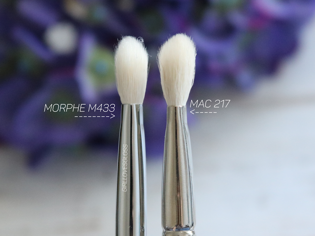A Tale Of Two Brushes Morphe M433 Vs Mac 217 Girl Loves Gloss Mac Makeup Brushes Mac Makeup Eyeshadow Mac Makeup Dupes Morphe 3502 second nature palette review and swatches. morphe m433 vs mac 217
