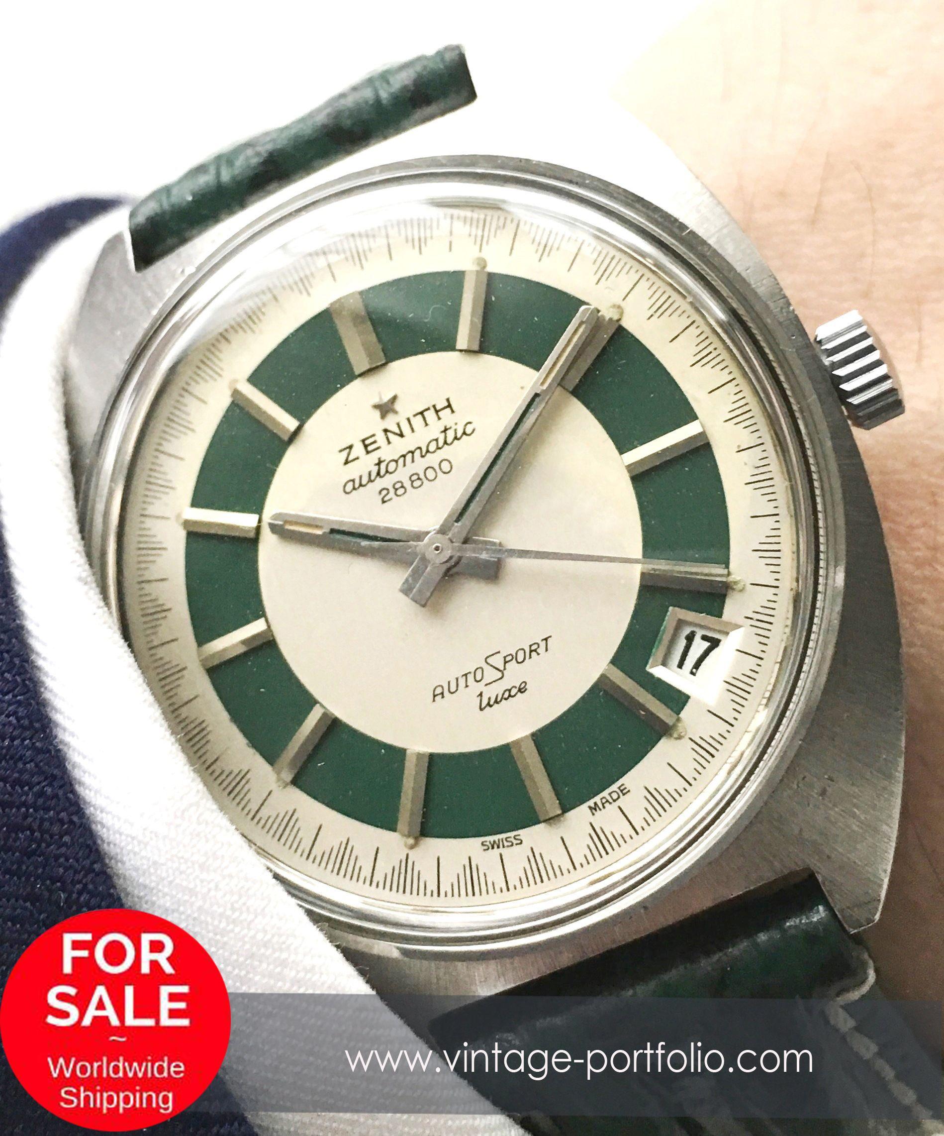36mm Zenith Automatic Autosport 28800 luxe Vintage green (rare) #zenith #zenithwatches