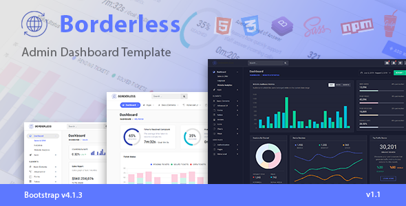 Borderless Responsive Admin Dashboard Template i 2020