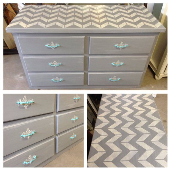 Chevron Collection- bedroom furniture, painted furniture, refinished ...