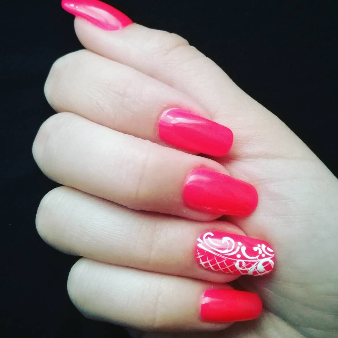 Neon pink nails | Nails | Pinterest | Neon pink nails, Pink gel ...