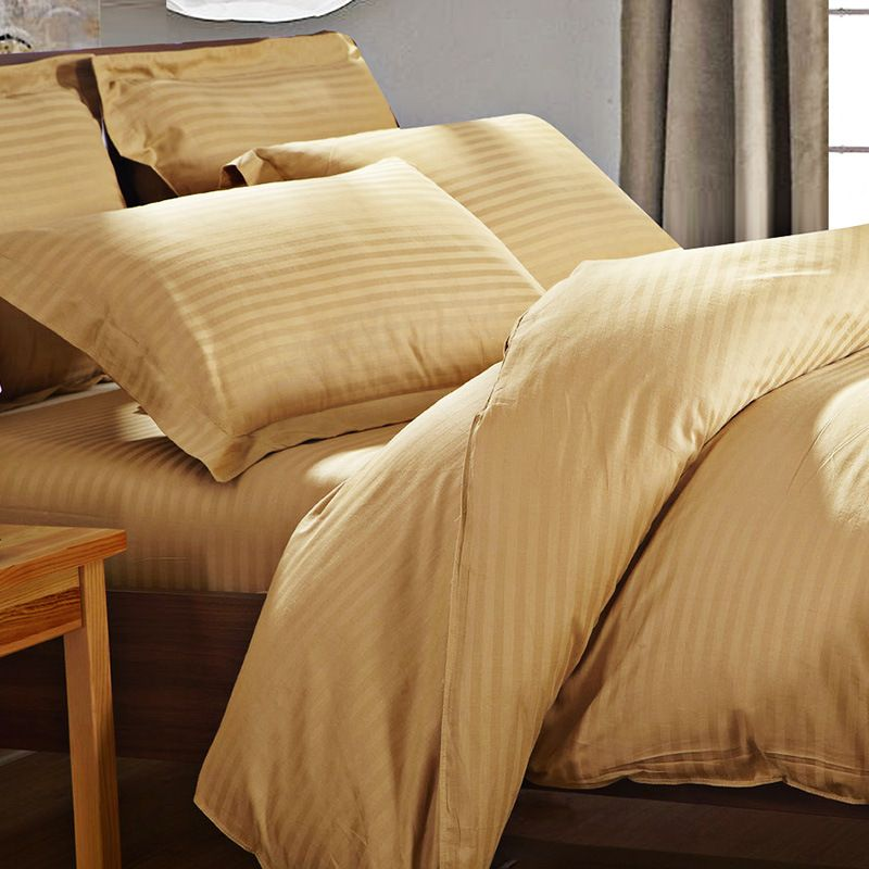 Find More Bedding Sets Information About 2016 Bedding Set 100% Cotton Twill  Duvet Cover Satin Strip White Hotel Bed Sheet Sets King Size 4pcs Jogo De  Cama ...