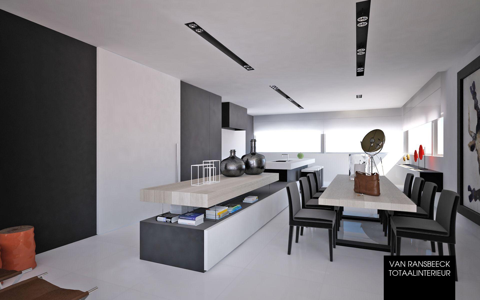 Project CRA - Hedendaags interieur met doorlopend keukeneiland welke ...