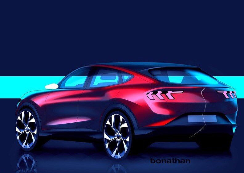Car And Sketch On Instagram 2021 Ford Mustang Mach E