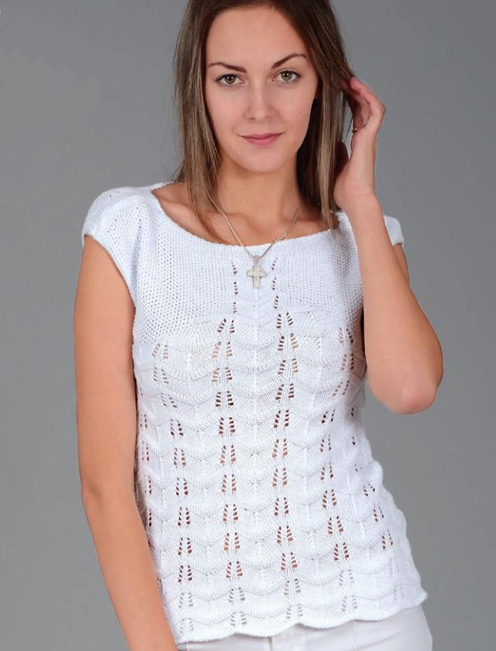 Zig-Zag Top - Patrones de tejer gratis | Blusas dos agujas ll ...