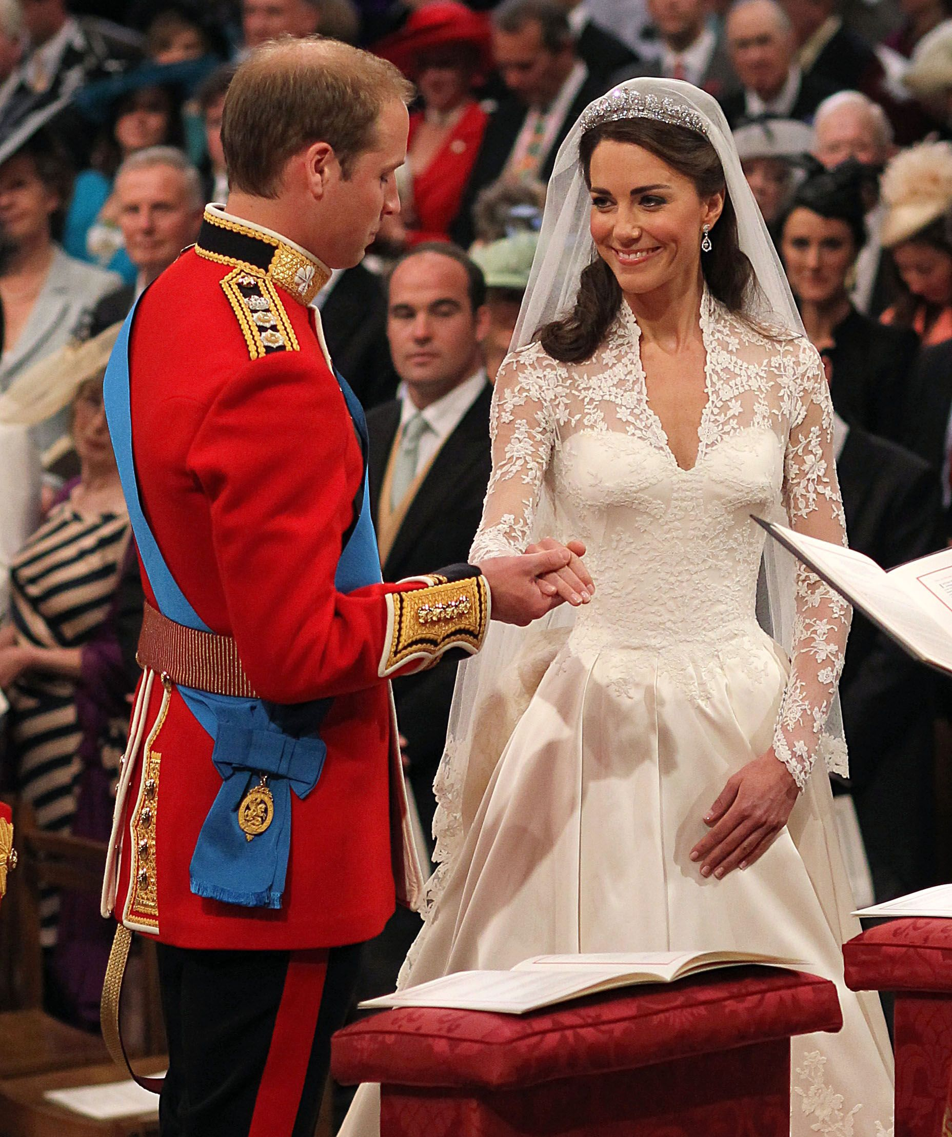 William and Kate - Dress by Sarah Burton at Alexander McQueen