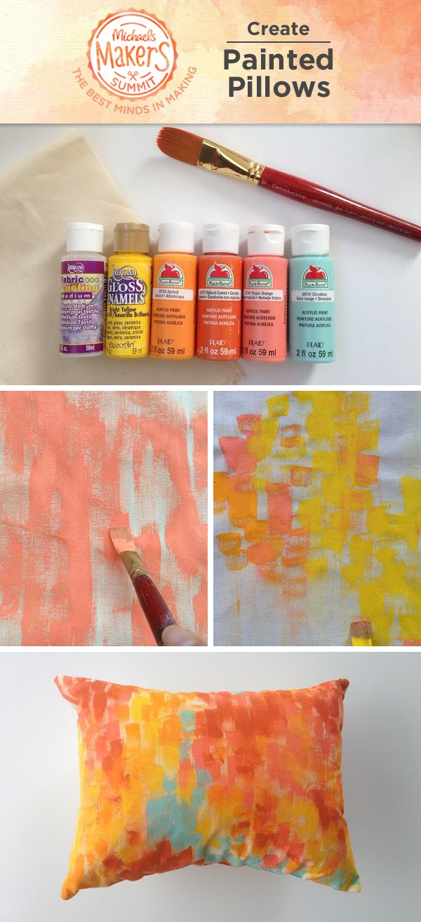 make fun painted pillows to liven your home these pillows are easy